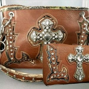 Montana West Concealed bag with wallet